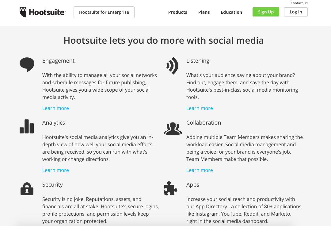 Hootsuite - Social Media Monitoring Tools